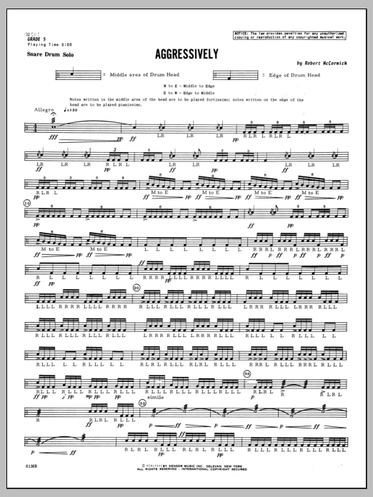 Aggressively Sheet Music
