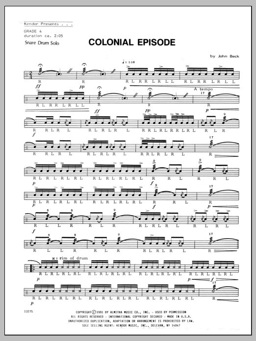 Colonial Episode Sheet Music