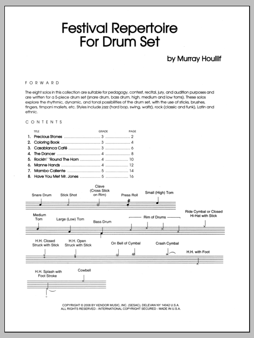 Festival Repertoire For Drum Set Sheet Music