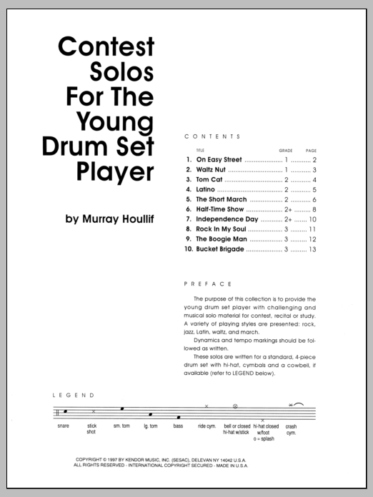 Contest Solos For The Young Drum Set Player Sheet Music