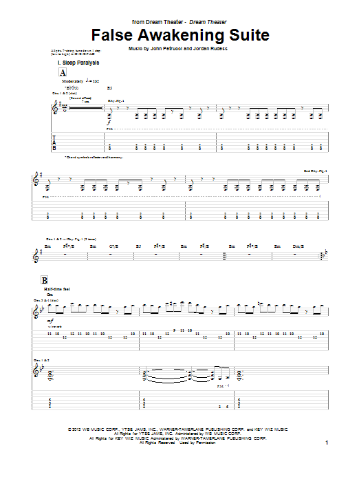 False Awakening Suite Sheet Music