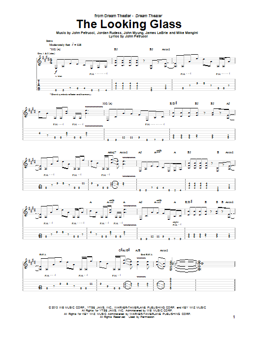 The Looking Glass Sheet Music