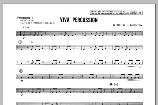 Viva Percussion - Percussion 3 Sheet Music