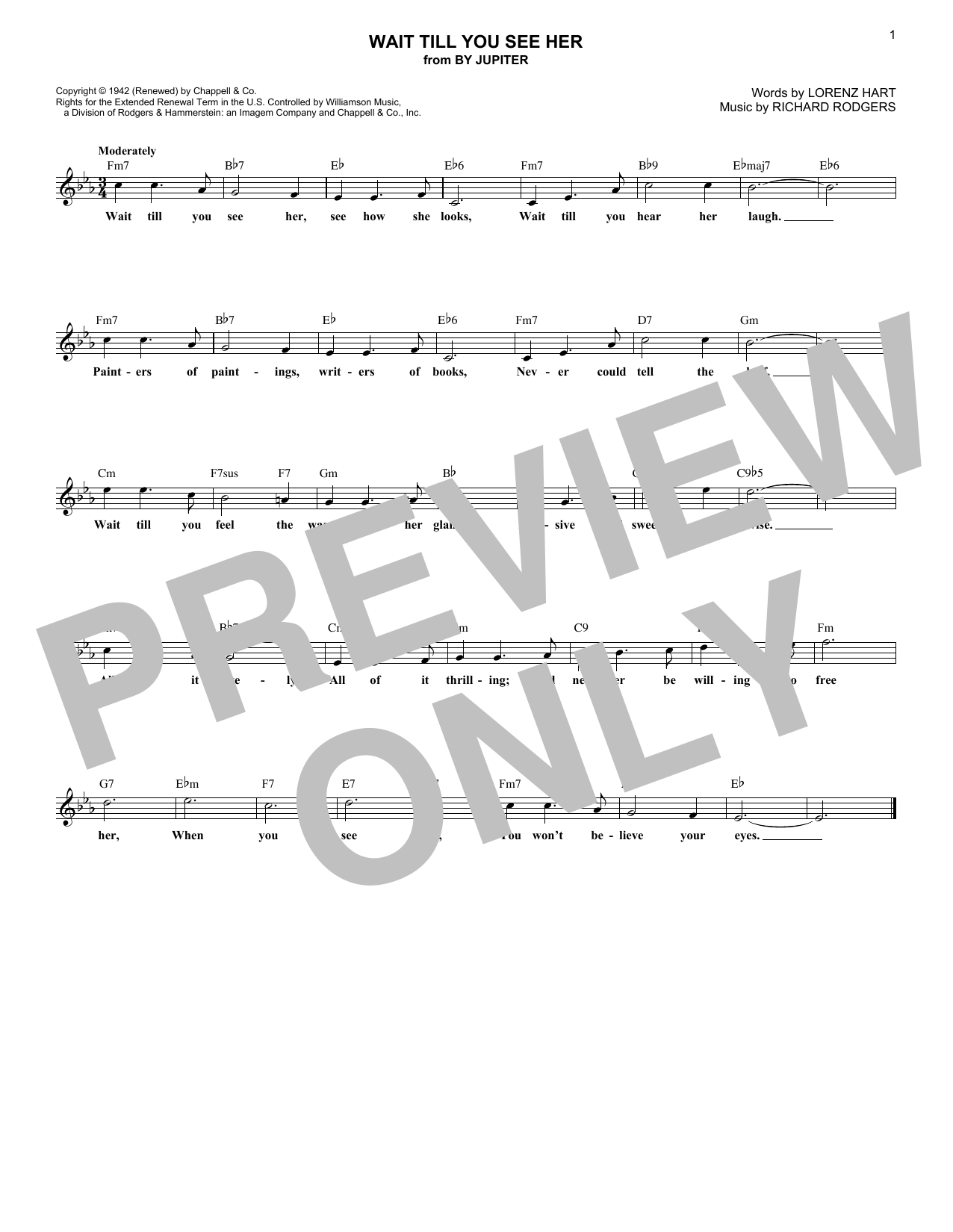 Wait Till You See Her (Lead Sheet / Fake Book)