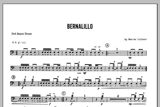 Bernalillo - 2nd snare drum Sheet Music