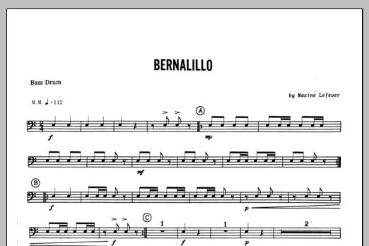 Bernalillo - Bass Drum Sheet Music