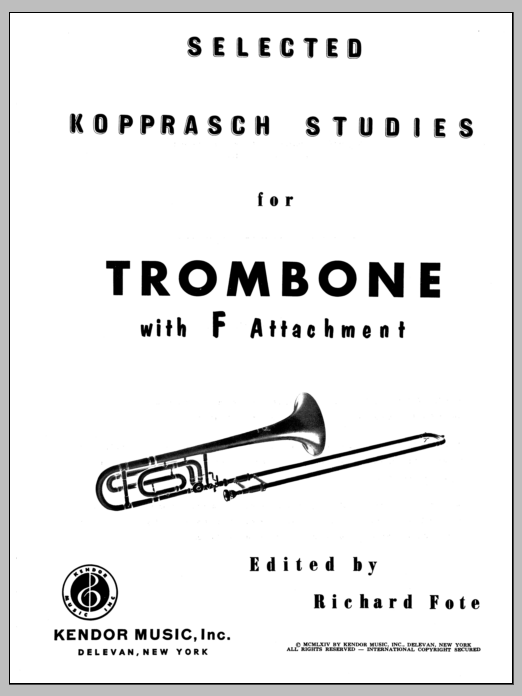 Selected Kopprasch Studies Sheet Music