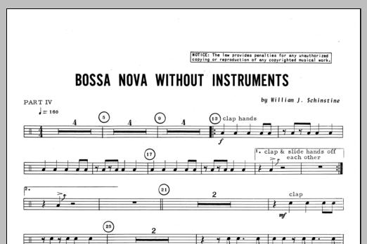 Bossa Nova Without Instruments - Percussion 4 Sheet Music