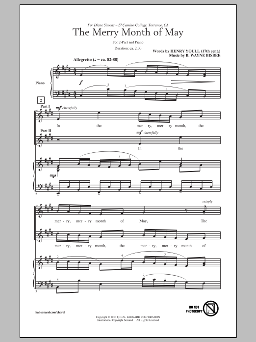 The Merry Month Of May Sheet Music