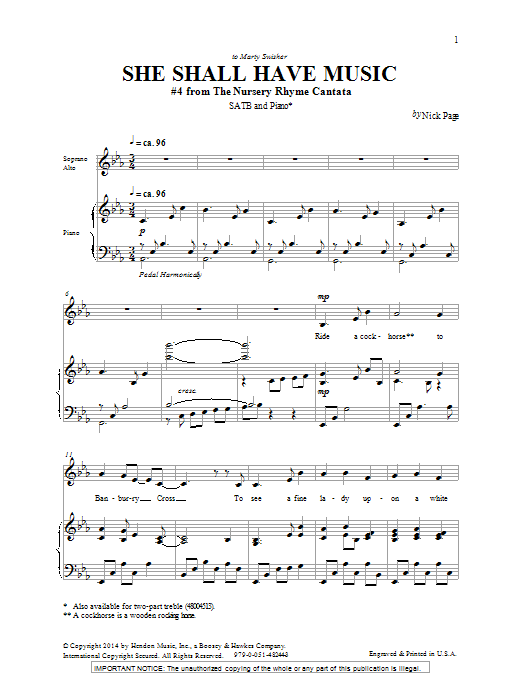 She Shall Have Music Sheet Music
