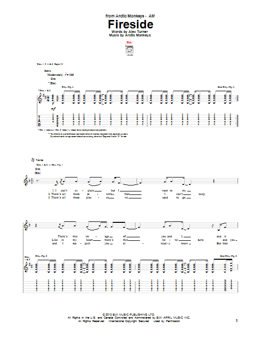 Fireside (Guitar Tab)