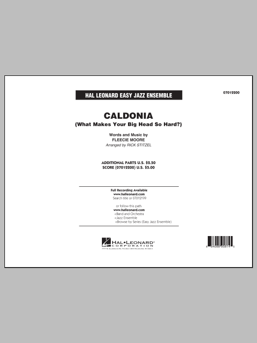 Caldonia (What Makes Your Big Head So Hard?) - Conductor Score (Full Score) (Jazz Ensemble)