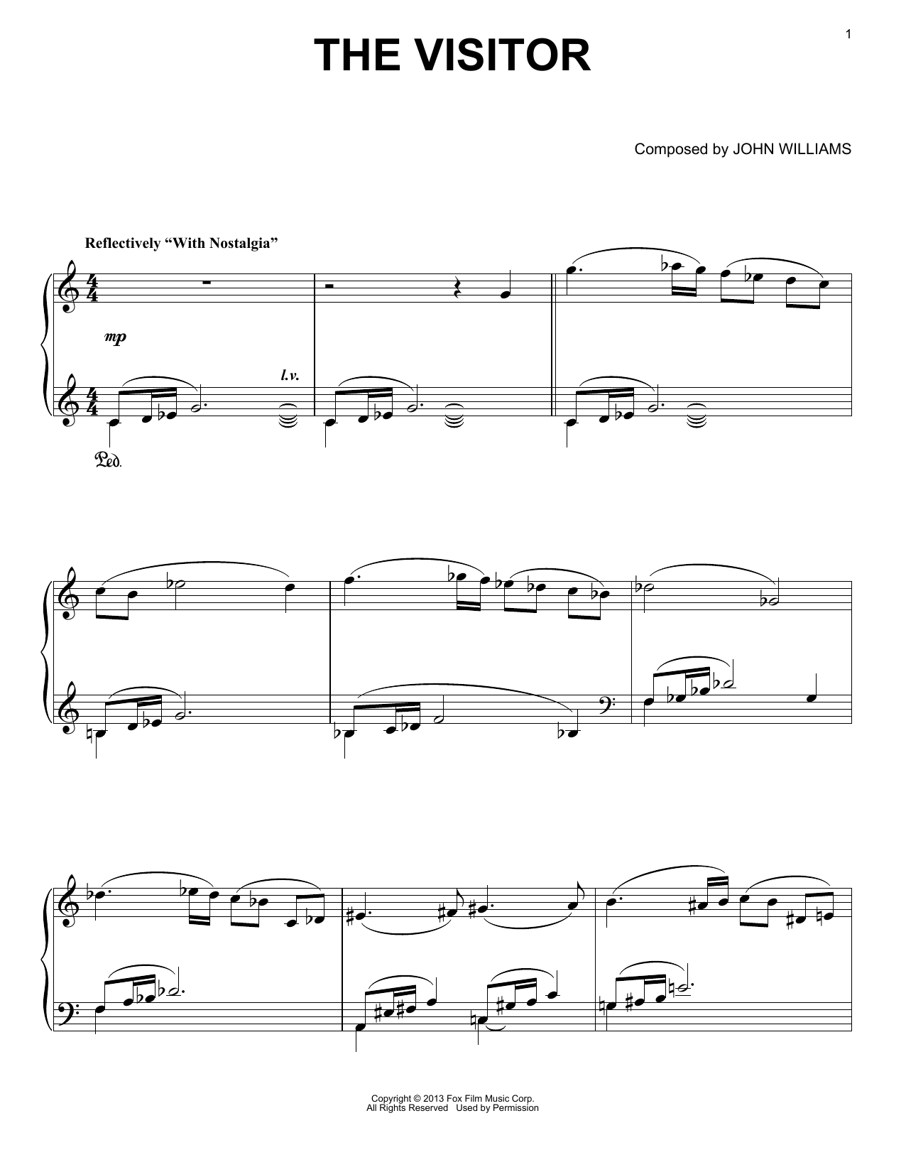 The Visitor Sheet Music