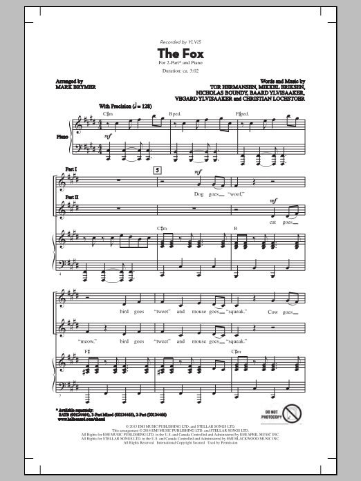 The Fox (arr. Mark Brymer) Sheet Music