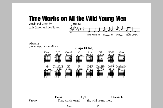 Time Works On All The Wild Young Men Sheet Music