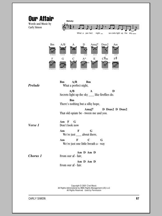 Our Affair Sheet Music