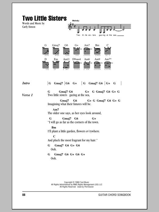 Two Little Sisters Sheet Music
