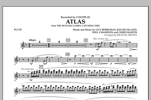 Atlas (from The Hunger Games: Catching Fire) - Flute (Concert Band)