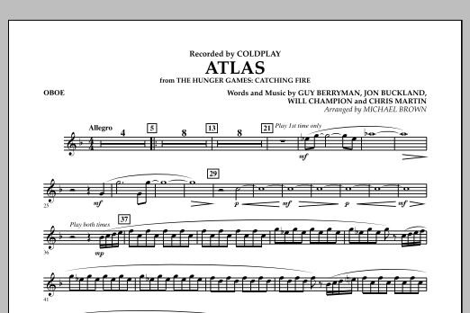 Atlas (from The Hunger Games: Catching Fire) - Oboe (Concert Band)