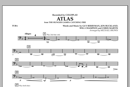 Atlas (from The Hunger Games: Catching Fire) - Tuba (Concert Band)