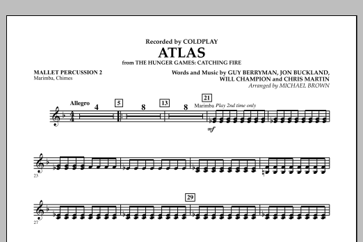 Atlas (from The Hunger Games: Catching Fire) - Mallet Percussion 2 (Concert Band)