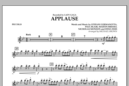Applause - Piccolo (Concert Band)