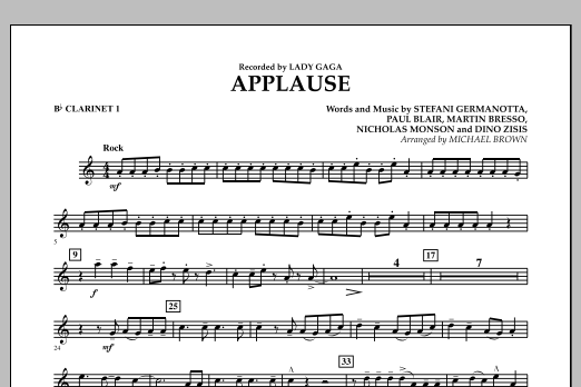 Applause - Bb Clarinet 1 (Concert Band)