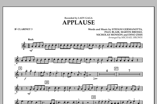 Applause - Bb Clarinet 3 (Concert Band)