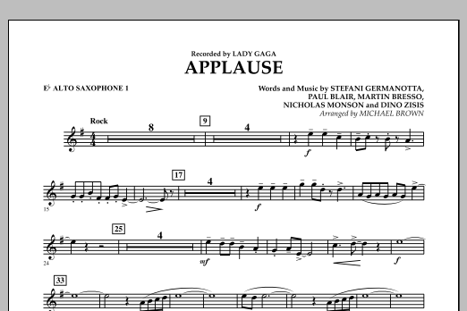 Applause - Eb Alto Saxophone 1 (Concert Band)