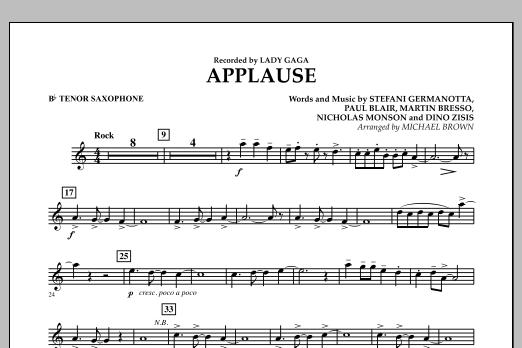 Applause - Bb Tenor Saxophone (Concert Band)