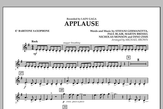 Applause - Eb Baritone Saxophone (Concert Band)