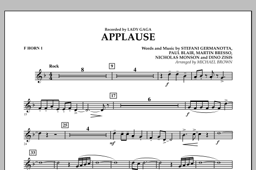 Applause - F Horn 1 (Concert Band)