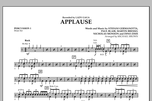 Applause - Percussion 1 (Concert Band)
