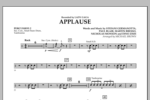 Applause - Percussion 2 (Concert Band)
