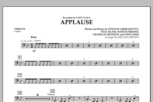 Applause - Timpani (Concert Band)