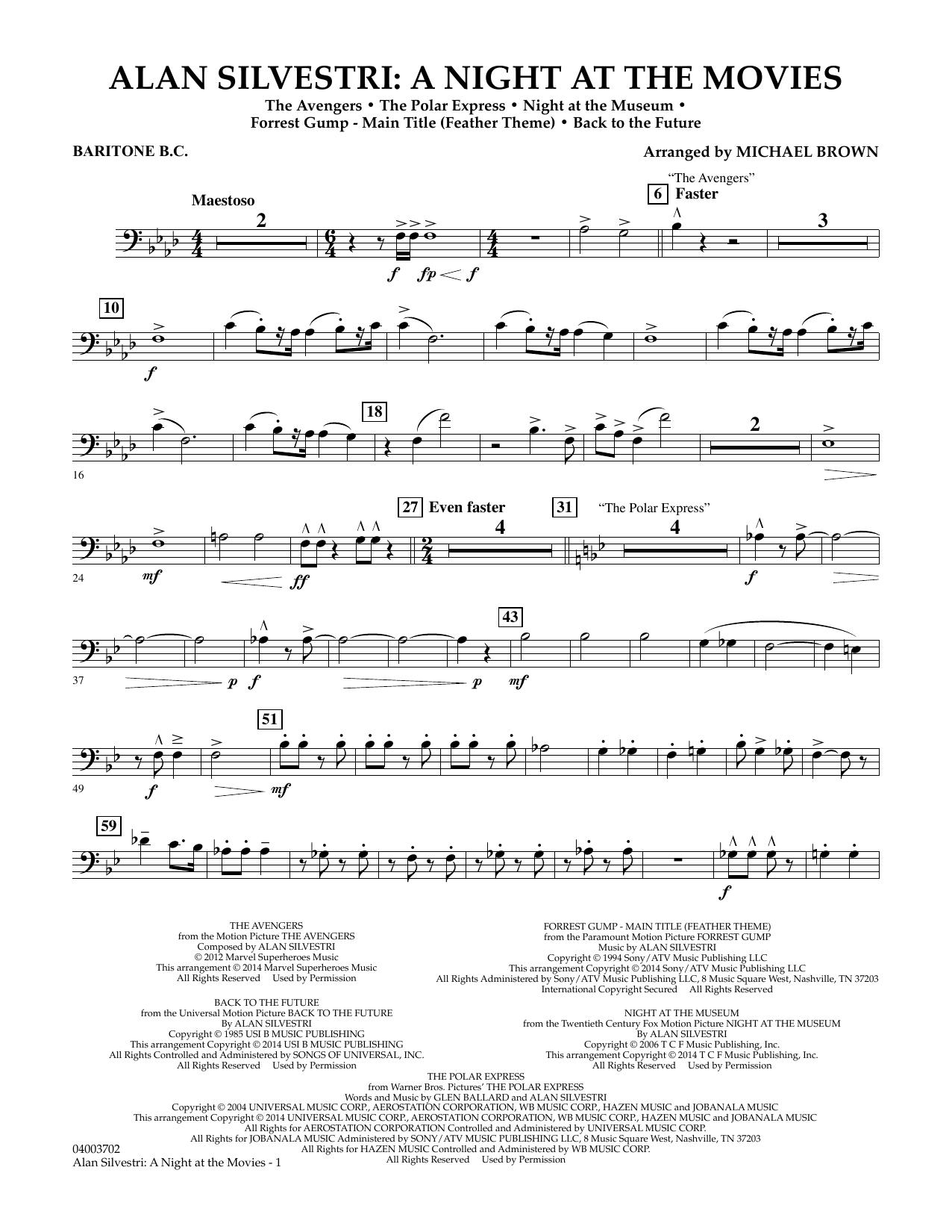 Alan Silvestri: A Night at the Movies - Baritone B.C. (Concert Band)