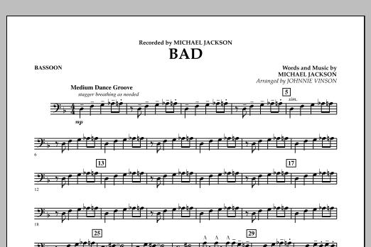 Bad - Bassoon (Concert Band)