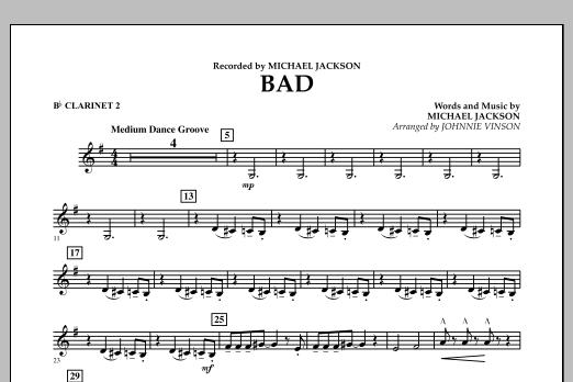 Bad - Bb Clarinet 2 (Concert Band)