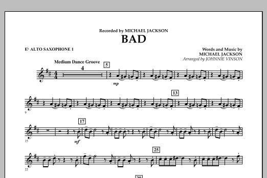 Bad - Eb Alto Saxophone 1 (Concert Band)
