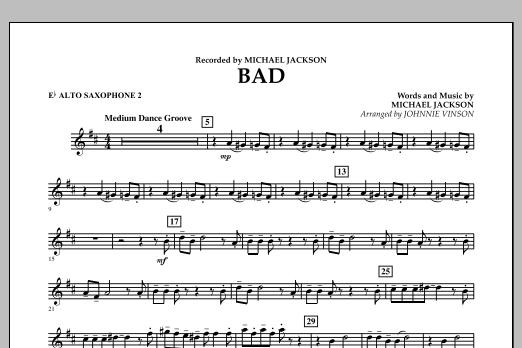 Bad - Eb Alto Saxophone 2 (Concert Band)