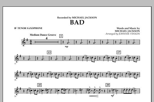 Bad - Bb Tenor Saxophone (Concert Band)