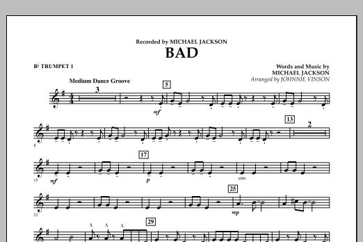 Bad - Bb Trumpet 1 (Concert Band)