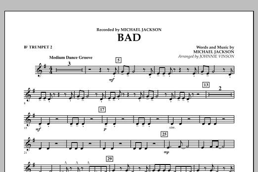 Bad - Bb Trumpet 2 (Concert Band)