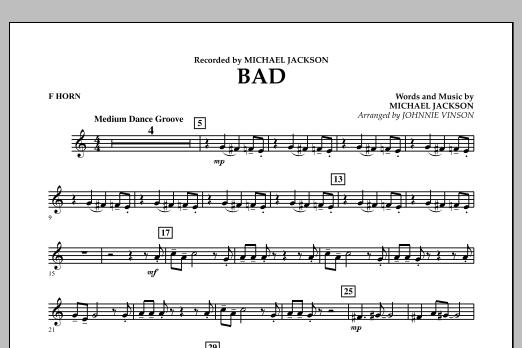 Bad - F Horn (Concert Band)