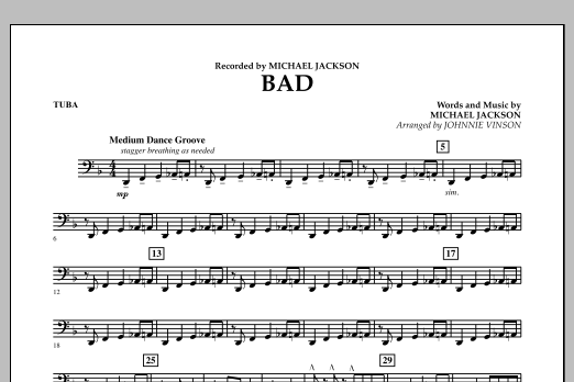 Bad - Tuba (Concert Band)