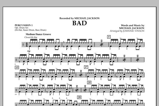 Bad - Percussion 1 (Concert Band)