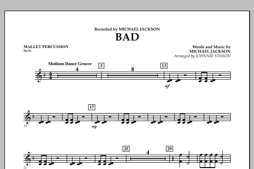 Bad - Mallet Percussion (Concert Band)