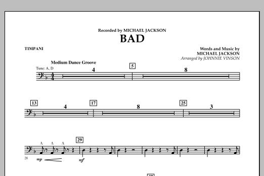 Bad - Timpani (Concert Band)