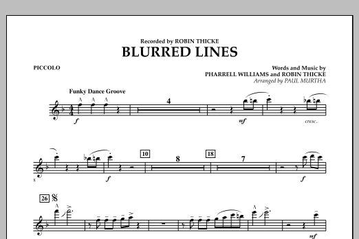 Blurred Lines - Piccolo (Concert Band)