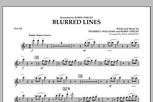 Blurred Lines - Flute (Concert Band)